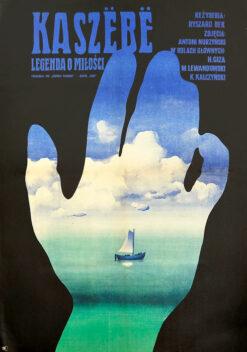"""Polska szkoła plakatu, oryginalny plakat filmowy vintage z okresu PRL """"Kaszebe"""", Waldemar Świerzy, 1970"""